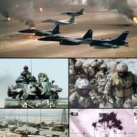 Collage of Gulf War battles