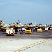 Kuwait Air Force McDonnell Douglas A-4KU Skyhawk ground-attack aircraft during the Gulf War