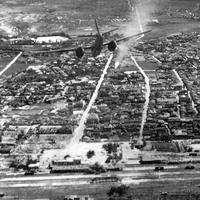 B-26 Bombing of a city during the Korean War