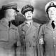 MacArthur with two of his generals during the Korean War