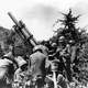 U.S. howitzer position near the Kum River in the Korean War