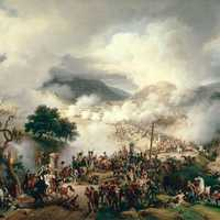Armies Clashing at the Battle of Somosierra during the Napoleonic Wars