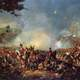 Armies Clashing at the Decisive Battle of Waterloo during the Napoleonic Wars