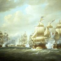 Battle of San Domingo at Sea during the Napoleonic Wars