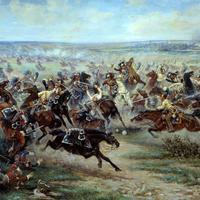 Charge of the Russian Imperial Guard cavalry against French cuirassiers at the Battle of Friedland