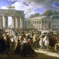 Napoleon Enters Berlin during the Napoleonic Wars