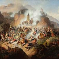 Polish cavalry at the Battle of Somosierra in Spain, 1808 during the Napoleonic Wars