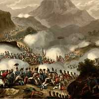 Soldiers at the Battle of the Pyrenees during the Napoleonic Wars