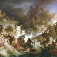 Romantic Painting of the Battle of Salamis