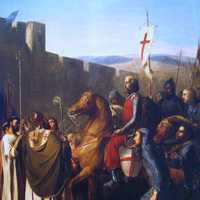 Baldwin of Boulogne entering Edessa in 1098 during the Crusades