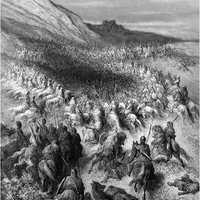 Battle of Hattin Engraving during the Crusades