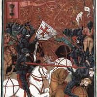 Hussite victory in the Battle of Domažlice  during the Crusades