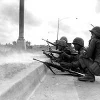 ARVN Rangers defending Saigon in 1968 Battle of Saigon during the Vietnam War