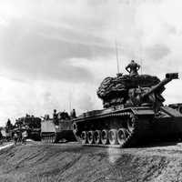 US tank convoy during the Vietnam War