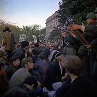 Vietnam War protests at the Pentagon, October 1967