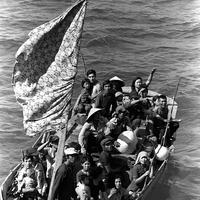 Vietnamese refugees fleeing Vietnam, 1984 in Vietnam War
