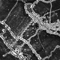 Aerial Photograph of German Trenches during World War I