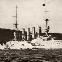 Armoured German cruiser SMS Gneisenaun during World War I