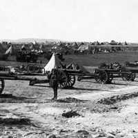 British artillery battery on Mount Scopus in the Battle of Jerusalem during World War I