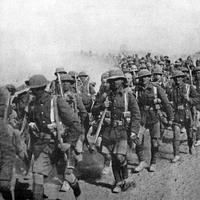 British troops on the march during Mesopotamian campaign World War I
