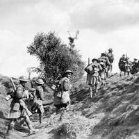 Canadian Scottish, advancing during the Battle of the Canal du Nord in World War I