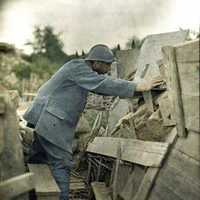 French Army Lookout Post in the Haut-Rhin during World War I