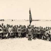 Officers of the 79th Infantry Regiment during the First Battle of Gaza during World War I