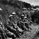 Royal Irish Rifles in a trench in the Battle of the Somme during World War I
