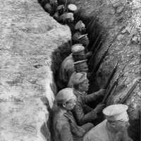 Russia Troops in a Trench awaiting German Attack in World War I