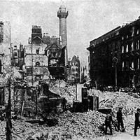 Sackville Street  in Dublin, Ireland in 1916 in World War I