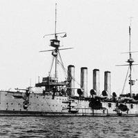 The armoured cruiser HMS Cressy in World War I