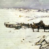 Winter Scene on the western front in World War I