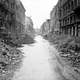 A devastated street in the city centre just off the Unter den Linden after Battle of Berlin