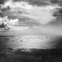 Allied Convoy crossing the Atlantic during World War II