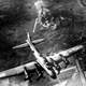 American 8th Air Force Boeing B-17 Flying Fortress bombing raid on the Focke-Wulf factory