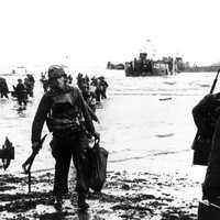 American Assault on Utah Beach during D-Day, World War II