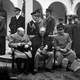 Churchill, Stalin, and Roosevelt at the Yalta Conference