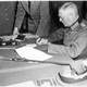 Field Marshall Wilhelm Keitel signs the final surrender terms, Victory in Europe