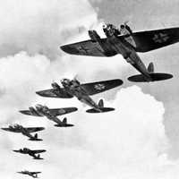 German Luftwaffe, Heinkel He 111 bombers during the Battle of Britain in World War II