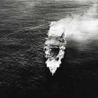 Hiryu before sinking at the battle of Midway, World War II
