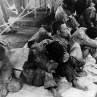 Japanese survivors of the Hiryu picked up by USS Ballard, Battle of Midway, World War II