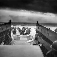 Landing Craft delivering Troops to Omaha Beach during D-Day, World War II