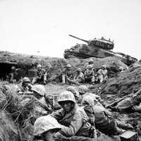 Marines from the 24th Marine Regiment during the Battle of Iwo Jima, World War II