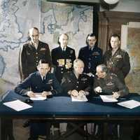 Meeting of the Allied Commanders planning D-Day, World War II
