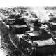 Polish 7TP light tanks in formation during the first days of the invasion of Poland, World War II
