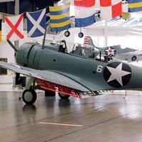 SBD-2 dive bomber at the Battle of Midway, World War II