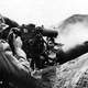 Sherman Tanks using Flamethrowers to clear out Japanese Bunkers at Iwo Jima