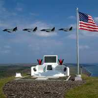 The memorial on top of Suribachi, Iwo Jima