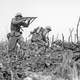 U.S. Marine from the 2nd Battalion,1st Marines on Wana Ridge, Okinawa