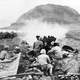 US Marines firing a 37mm Gun at Japanese Cave Positions at Iwo Jima, World War 2